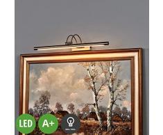 Lampenwelt LED Wandleuchte, Wandlampe Innen Merte (Modern) in Alu aus Metall u.a. für Wohnzimmer & Esszimmer (1 flammig, A+, inkl. Leuchtmittel) - Bilderleuchte, Wandstrahler, Wandbeleuchtung