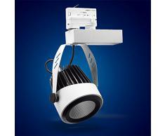 Mextronic 3-PHASEN-STROMSCHIENENSTRAHLER 42W Tageslicht weiss led 3 phasen strahler für Schienensystem