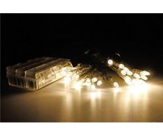 30er LED Batterlichterkette warmweiß Innen und Außenbereich Lichterkette Beleuchtung Deko Zeitschaltuhr Timerfunktion Batteriebetrieb
