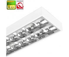 Rasterleuchte geeignet für 2x LED T8 Rasterlampe Bürolampe Deckenleuchte