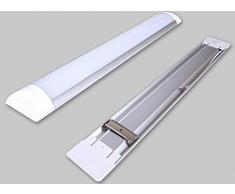 ALBRIGHT LED Leuchtstoffröhre / 120cm Länge/ 36 Watt 3000Lumen / Tageslichtweiß - 6500 Kelvin / Feuchtraumleuchte Nassraumleuchte Wannenleuchte Röhre Lampe- 4er-Pack