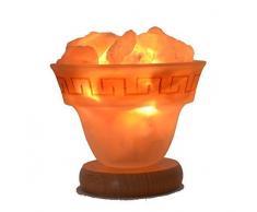 Salzkristall aus dem Himalaya | Lampe mit E14 Fassung | 1 Kg Salz-Brocken klein | gute Einschlafhilfe für Kinder |Geschenk für jeden Anlass | Schlafzimmer-Salzlampe Licht - Feuer des Olymp Gr. S