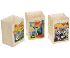LUMINARIA 8538500 Lichtertüte Rosina Wachtmeister - 3-teiliges Set, Windlicht, Papier, 11 x 16 x 9 cm, Mehrfarbig