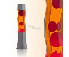 Quadratische 42cm hohe Lavalampe in orange rot RA1/5/717 Magmalampe