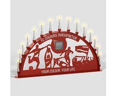 Schwibbogen Lichterbogen Metall - Motiv: Fußball Verein - Farbe: rot - wählbare Breite: XL = 1 Meter, XXL = 1,5 Meter und XXXL = 2 Meter - für Außen / Außenbereich (200 x 100 cm)