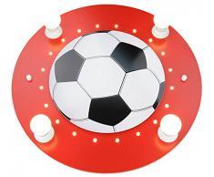 Elobra Deckenleuchte Fußball, rot/weiß 127711