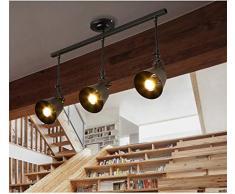 Modern Schienen-Strahler LED Strahler 3-flammig schwenkbarer Deckenstrahler, Metall Spot Deckenleuchte, Schienensystem, Innenbeleuchtung, Deckenspot Lampe (Schwarz)