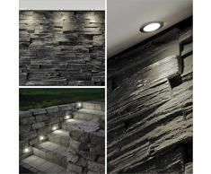 10x LED Einbauspots / Einbauleuchten, Ø 30 mm, IP44 - spritzwassergeschützt, Metall (chrom / warmweiß)