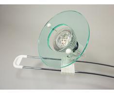 LED Deckenbogen 4 flammig Weiß mit Acrylglaseinsätzen Deckenstrahler inklusive 3Watt LED Deckenleuchte