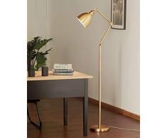 GJIF - Stehlampe Stehlampe Eisen Innenbeleuchtung Leseleuchte Antik - Fußschalter (E27)
