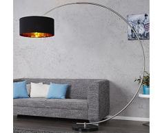 DuNord Design Bogenlampe EASTEND schwarz gold