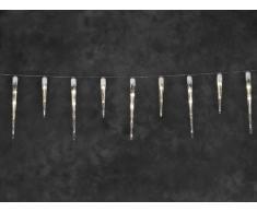 Konstsmide 2746-102 LED Eisregen Lichtervorhang mit 16 Zapfen / für Außen (IP44) / 24V Außentrafo / 24 warm weiße Dioden / weißes Kabel