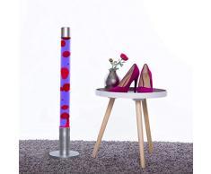 Dekorative XXL 76 cm hohe LavalampeAlan LA651208 Stehleuchte in lila rot Magma/Lavaleuchte mit Leuchtmittel & Schalter