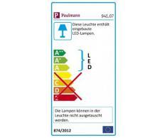 Paulmann Togo LED Seilsystem, Deckenstrahler 4-flammig Komplettset, runde Deckenleuchte - ideal zur Bürobeleuchtung & Küchenbeleuchtung, Farbe: Chrom