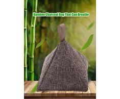 HJJH Luft Reinigende Bambus-Holzkohle-Lufterfrischer, Für Kamm, Gefrierschränke, Autos, Schrank, Schuhe, Küchen, Keller, Schlafzimmer, Wohnbereiche,6Pack