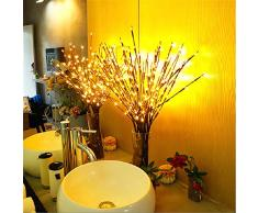 LED Zweig Lampe,Winnes 20 LEDs Lichterzweige Warmweiß Dekozweige Led Niederlassungen Batteriebetriebene dekorative Lichter Für Home Room Decor (3 Stück)