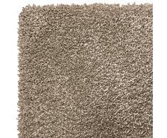 F&S VELVET ALLURE taupe 140 x 200 cm pastelfarbiger und sehr hochwertiger robuter verlourartiger TEPPICH bestehend aus 100% Polymer Yarns geeignet für Wohnbereiche und Schlafzimmer. Leicht zu reinigen und waschbar in der Waschmachine