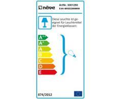 Naeve Leuchten Außensockelleuchte / exklusiv Leuchtmittel / Höhe: 52 cm / ø 18 cm / Edelstahl / Glas, metall blank 3001250