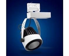 Mextronic 3-PHASEN-STROMSCHIENENSTRAHLER 34W Neutralweiss led 3 phasen strahler für Schienensystem