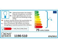 Konstsmide 1190-510 Baumkette mit roten Topbirnen / für Innen (IP20) / VDE geprüft / 230V Innen / One String / 25 klare Birnen / grünes Kabel