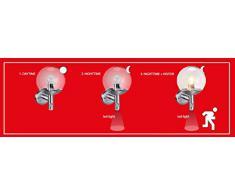 Smartwares Edelstahl Außenleuchte mit Bewegungsmelder EEK A++ SW RVS46LA