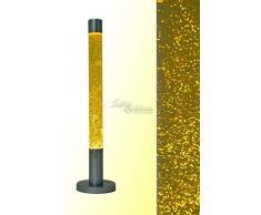 Dekorative 76 cm hohe Glitterleuchte Lavalampe Stehleuchte in gold/ gelb Magm...