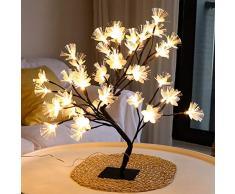 YCEOT USB Powered Led Kirschbaum Lichtzweig Glasfaser Blumenbaum Lampe Tischlicht Nachtlicht Hochzeitsfeier Weihnachtsdekoration