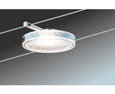 Paulmann 941.10 Seilsystem DiscLED2 Set Warmweiß Warmweiß 5x4W LED Chrom 94110 Seilleuchte Hängeleuchte