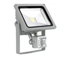 LED Wand 20 Watt Fluter Außen Bereich Sensor Arbeits Bau Lampe verstellbar EEK A+ EGLO 93477