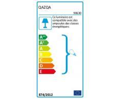 QAZQA Modern Wandleuchte Boog Stahl/Silber/nickel matt ohne Schirm/Innenbeleuchtung/Wohnzimmer/Schlafzimmer Metall Rund/Länglich/LED geeignet E27 Max. 1 x 60 Watt