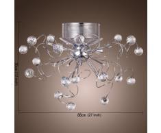 ALFRED® Moderne Kristall Kronleuchter Mit 9 Leuchten, Unterputz  Deckenleuchte Befestigung Für Flur