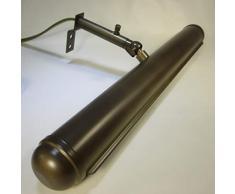 32cm Vintage Messing Bilderlampe Antik Stil Wandlampe Bronzefarben Bilderleuchte Gemäldelampe Regal Beleuchtung Schranklampe