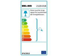 Briloner Leuchten Badlampe, Badleuchte, Deckenleuchte 1 x E27 max. 60 Watt, IP 23, chrom - weiß