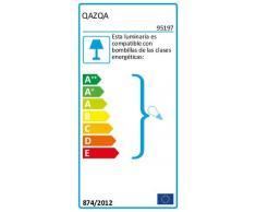 QAZQA Landhaus/Vintage/Rustikal Ländliche AußenPendelleuchte/Pendellampe/Hängelampe/Lampe/Leuchte schwarz - Moreno/Außenbeleuchtung Aluminium/Glas Rund LED geeignet E27 Max. 1 x 60 Watt