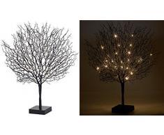 Lunartec Leuchtbäume: Moderner Lichterbaum mit 25 warmweißen LEDs, 50 cm, schwarz (Licht-Baum)
