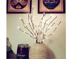 LED Lichterzweige im warmweiss Forepin® 1er Set 20 LEDs Lichterbaum LED Baum Lichterzweig Dekobeleuchtung für Innen und Außen