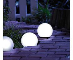 Lunartec Solar-Leuchtkugel warmweiß mit Dämmerungsschalter 4er-Set