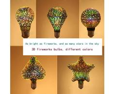SSLW 3D farbenfrohe Edison LED-Glühbirne dekorative Glühbirne E27 Schraube KTV Hotel Kreativer Lichtbaum Colorful