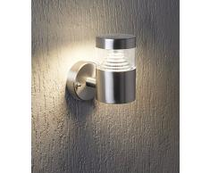 Edelstahl Design LED Wandleuchte 7 Watt Außenwandleuchte Wandstrahler Hausbeleuchtung L-Form