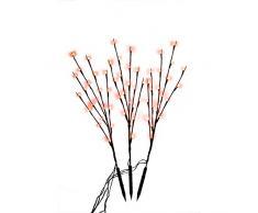 NEAN 60 LEDs Zweig beleuchtung für außen und innen Lichterzweig Deko Zweige Gartenbeleuchtung Weihnachten