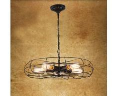 BAYCHEER Industrielampe 5 Flamimige Ventilator Hängelleuchte FAN Vintage Design Pendelleuchte Kronleuchter