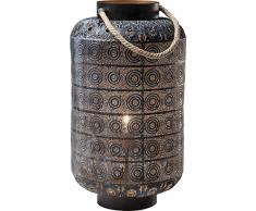 Kare Design Bodenleuchte Sultans Home, Bodenlampe mit Kordelgriff, orientalische Tischleuchte, Schwarz (H/B/T) 58x39x39cm [Energieklasse A++]