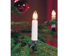 Konstsmide 1998-000 Baumkette mit weißen Topbirnen / für Innen (IP20) / 230V Innen / 20 klare Birnen / grünes Kabel