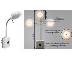 Trango LED Steckerleuchte Wandleuchte TG2604 Küchenlampe Nachtlicht Lampe 3000K warmweiß direkt 230V Wandlampe
