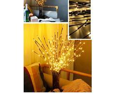 LED Zweig Lampe,Winnes 20 LEDs Lichterzweige Warmweiß Dekozweige Led Niederlassungen Batteriebetriebene dekorative Lichter Für Home Room Decor (2 Stück)