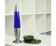 Dekorative Glitterlampe lila Violett transparent LA550408G Lavaleuchte