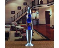 Eillybird Lavalampe Metallboden Kerzenlampen Lava Lampe Schlafzimmer Nachtlicht Nacht Quallen Lampe EU Stecker
