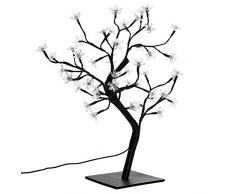 Nipach GmbH 48 LED Baum mit Blüten Blütenbaum Lichterbaum weiß 45 cm hoch Trafo IP20 Weihnachtsbeleuchtung Weihnachtsdeko Lichterdeko Xmas