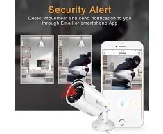 Sicherheitskamera 2.0MP 1080P IP66 IP-Kamera Outdoor IP-Kamera Wasserdicht mit Rauschunterdrückung Bewegungsalarm 3D Nachtsicht IR für Wohnbereiche Banks