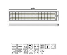 Rasterleuchte EVG geeignet für 2x LEUCHTSTOFFRÖHREN T8 150cm G13 230V Rasterlampe Bürolampe Deckenleuchte